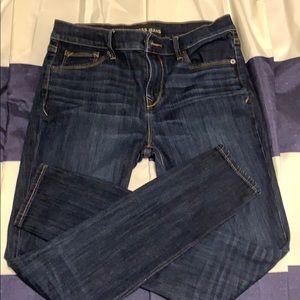 Express blue jeans mid rise